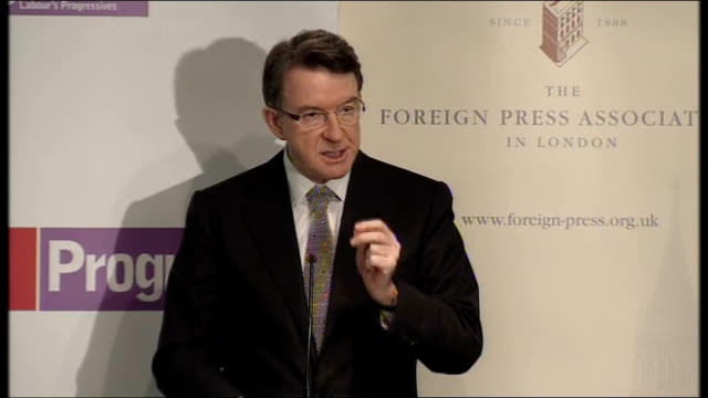 campaigning mandelson speech on choices facing britain england london commonwealth club int lord mandelson speech sot my argument today is that the... - new age stock videos & royalty-free footage