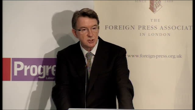 campaigning mandelson speech on choices facing britain except… you do because we've been there before and that's why they pose a clear and... - war in afghanistan: 2001 present stock-videos und b-roll-filmmaterial