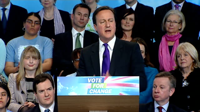 Conservative manifesto launch Cameron QA press conference Cameron speech SOT Ask not what your country can do for you ask what you can do for your...