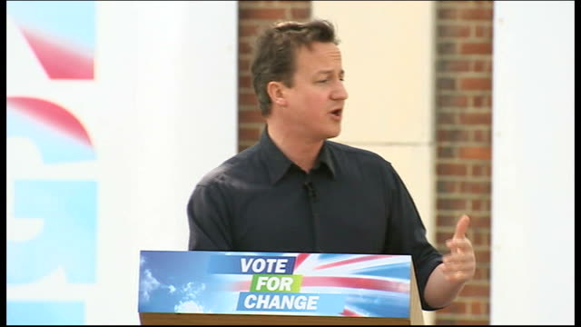david cameron giving speech in essex cameron speech sot and there is one other vital change that we want to bring / we have had a prime minister who... - thurrock stock videos and b-roll footage