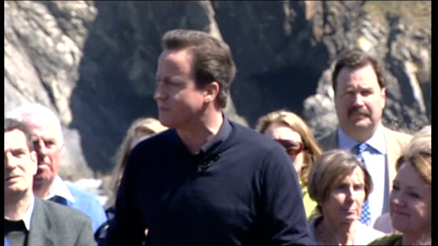 david cameron speech and qa in newquay david cameron addressing supporters sot we will have the biggest boldest most comprehensive programme of... - toffee stock-videos und b-roll-filmmaterial