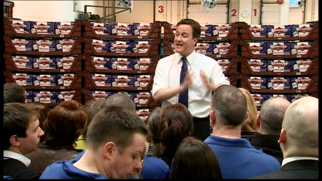 2010 David David Cameron speaks to workers at Warburtons Bakery in Bolton David Cameron MP QA session SOT Tragedy for the north west that we have...