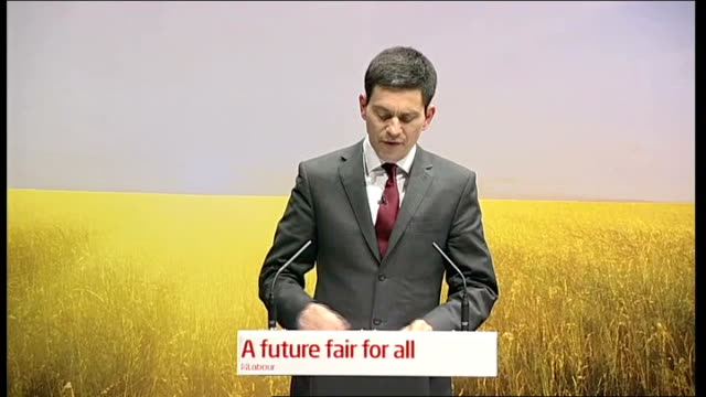 david miliband speech david miliband speech sot keynote foreign policy speech on british government's relationship with europe differences between... - david miliband stock videos & royalty-free footage