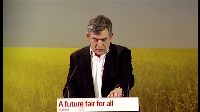 ed miliband and gordon brown at launch of labour environment manifesto gordon brown speech continued sot fifth thing education to 18 / pupils could... - double chance stock videos & royalty-free footage