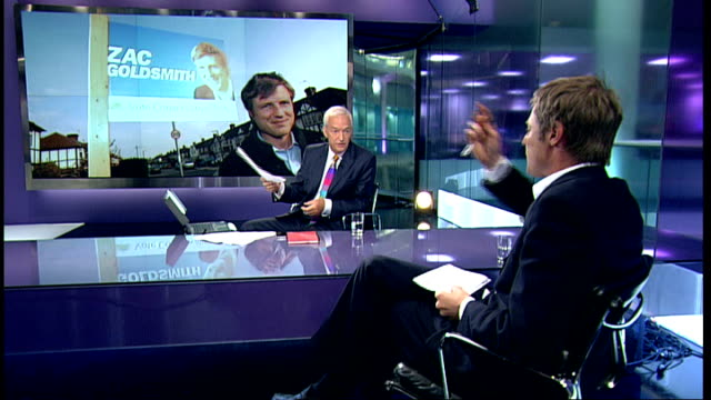electoral commission to carry out review of zac goldsmith spending tx zac goldsmith mp interview with itn presenter jon snow sot three things will... - ギールフォーレスト国立公園点の映像素材/bロール