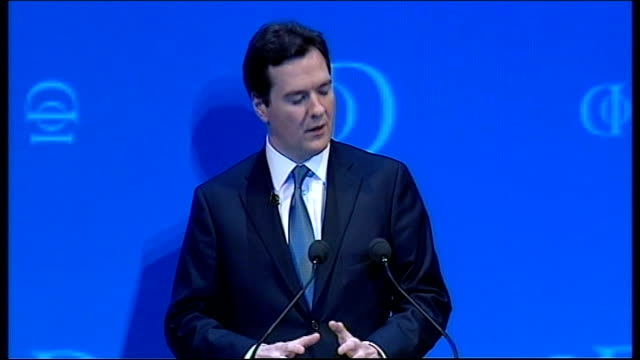 general election 2010: george osborne speech at iod convention; george osborne speech sot - this will all help us build a more balanced british... - law stock videos & royalty-free footage