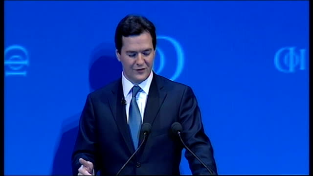 george osborne speech at iod convention george osborne speech sot anyone elected next thursday will have to do more / no opposition in history has... - ユーロ圏債務危機点の映像素材/bロール