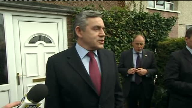 general election 2010: gordon brown apologises for 'bigot' gaffe; greater manchester: rochdale: ext duffy listening to reporter tell her about... - 2010 stock videos & royalty-free footage