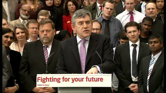 gordon brown speech at bradford university gordon brown speech continued sot i want 2010 to be year when nhs and police foreces acan move forward... - humility stock videos and b-roll footage