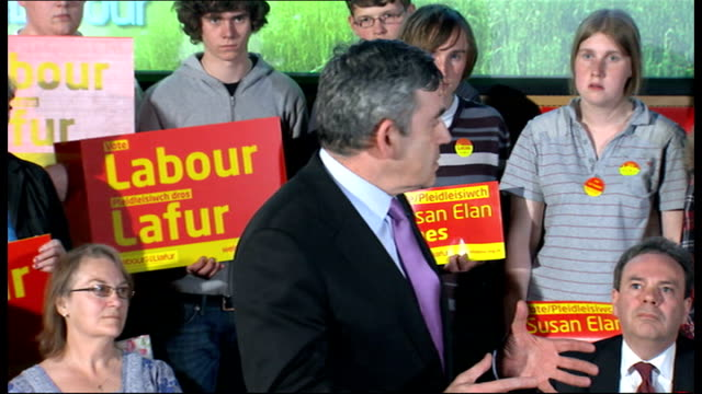 Gordon Brown speech at Wrexham University Gordon Brown speech continues SOT That's why we believe in dignity and security for the elderly / we have...