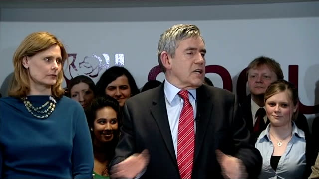 general election 2010: gordon brown speech to staff at labour hq following resignation; gordon brown speech sot - let me a few days after our... - politics and government stock videos & royalty-free footage