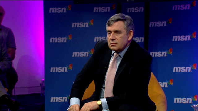 2010 gordon brown talks to workers at msn in london gordon brown mp qa session sot problem with the banks one they never had enough capital so... - cut video transition stock videos & royalty-free footage
