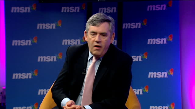 2010 Gordon Brown talks to workers at MSN in London Gordon Brown MP QA session SOT We have 5 years and a huge amount to do / One of goals to get...