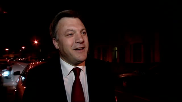 general election 2010: hung parliament: ed balls interview on liberal democrat / labour negotiations; balls interview continued sot - talks have... - gordon brown stock-videos und b-roll-filmmaterial
