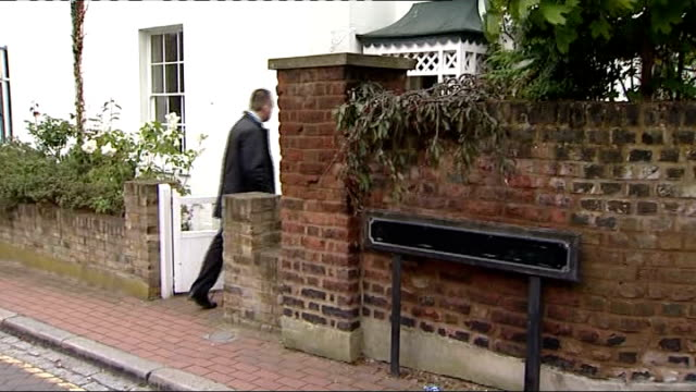 Hung Parliament Nick Clegg statement ENGLAND London EXT Daily Mirror newspaper 'chicken' stand on pavement outside Nick Clegg house Nick Clegg out of...