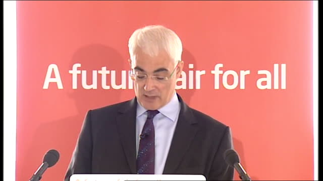 general election 2010: labour party campaign: alistair darling speech on the economy; scotland: edinburgh: int alistair darling mp along to podium on... - the world's end stock videos & royalty-free footage