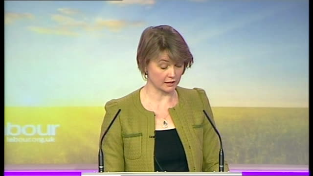 Labour Party press conference Yvette Cooper MP press conference SOT We support marriage on this platform marriage and strong relationships are...