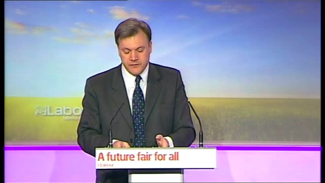 general election 2010: labour press conference on public services; ed balls press conference continues sot - as the letter in the guardian today... - innocence stock videos & royalty-free footage