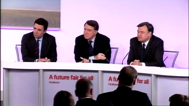 labour press conference on public services reporter asking question sot lord mandelson press conference sot on whether this is his most difficult... - schulleiter stock-videos und b-roll-filmmaterial