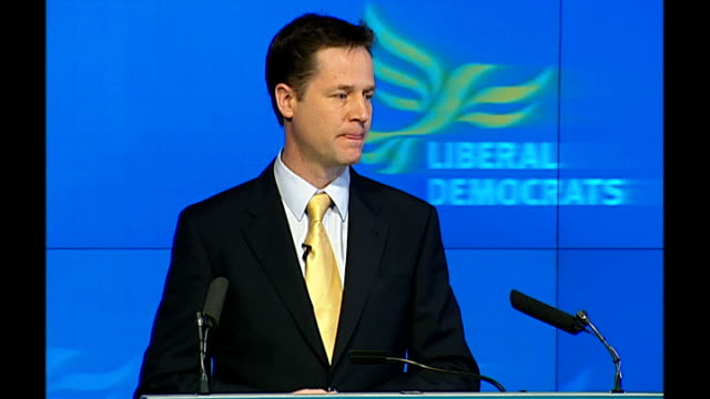 Liberal Democrats launch manifesto Nick Clegg speech Nick Clegg MP speech SOT Every manifesto needs to have an idea at its heart The basic idea that...