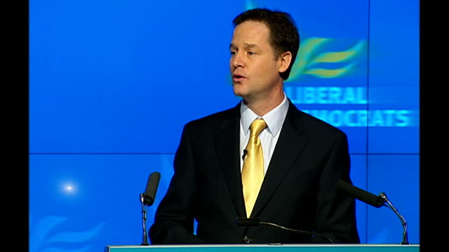 Liberal Democrats launch manifesto Nick Clegg speech The two old parties have taught us to expect little from politicians and get less They have...