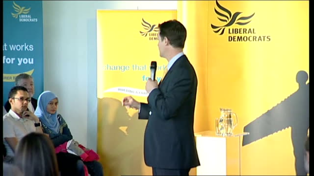 general election 2010: nick clegg speech at rally in gateshead; nick clegg speech sot - a couple of years ago we put in an amendment to something... - doing a favour stock videos & royalty-free footage