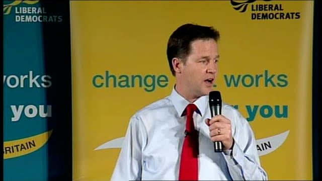 nick clegg speech in glasgow nick clegg speech sot the choice is not whether we have change it's what kind of change / conservative party wants to... - paying taxes stock videos & royalty-free footage