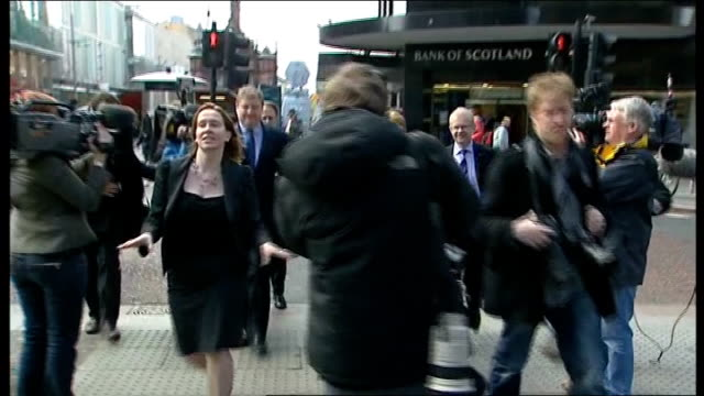 scottish national party manifesto launch salmond poses for press with snp manifesto scotland glasgow ext alex salmond msp as hugged by elderly snp... - scottish national party stock videos & royalty-free footage