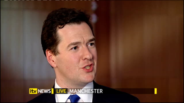The First Election Debate Analysis ENGLAND Manchester Reporter to camera George Osborne MP LIVE interview SOT David Cameron did incredibly well he...