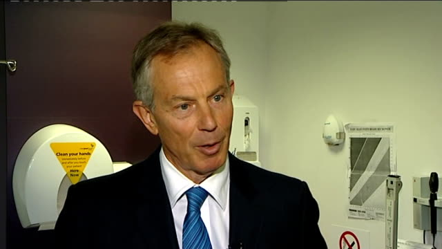 tony blair visits harrow clinic tony blair interview sot strange thing from this campaign is that there's all the debates and who's up and down and... - final chance stock videos & royalty-free footage