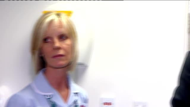 tony blair visits harrow clinic tony blair shown health centre facilities by managers - harrow stock videos & royalty-free footage