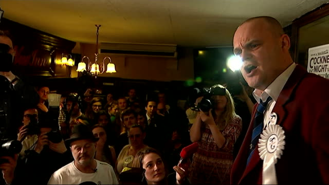 general election 2015: al murray launches campaign in south thanet; al murray press conference sot [including murray banter with nigel askew and... - al murray stock videos & royalty-free footage