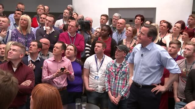 general election 2015: campaigning: david cameron speech; cameron q&a sot - lets have more flexibility / got to make it more affordable for people... - referendum stock videos & royalty-free footage