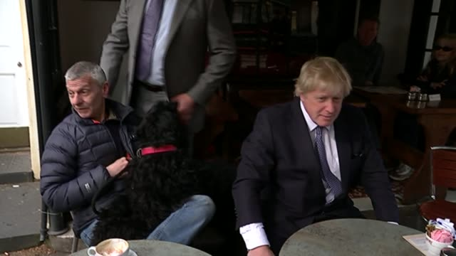 campaigning in hampstead and kilburn boris johnson england london hampstead ext various of boris johnson along street as campaigning with... - significant stock videos & royalty-free footage