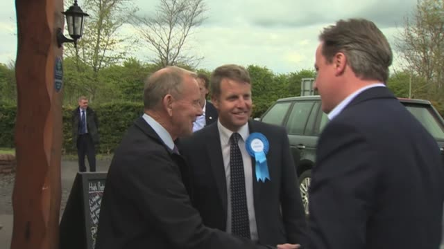 conservative david cameron campaigning in dumfries scotland dumfries and galloway dumfries ext david cameron and wife samantha cameron out of car and... - dumfries and galloway stock videos & royalty-free footage
