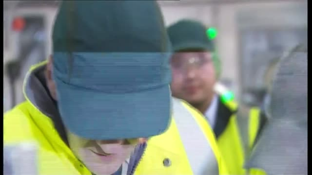 conservative party business leaders letter / labour party clamp down on zerohours leeds britvic factory int george osborne along wearing high vis... - ウェストヨークシャー点の映像素材/bロール