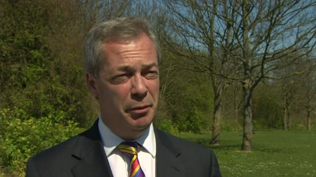 stockvideo's en b-roll-footage met conservative party election manifesto launched kent thanet nigel farage interview sot it's a rehash of what was said in 2010 and has not been... - manifest