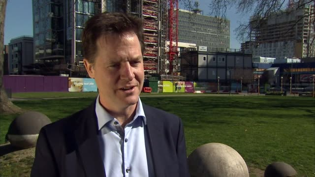 stockvideo's en b-roll-footage met conservative party election manifesto launched london southwark nick clegg interview sot their big idea is a poor cover version of one of margareth... - manifest
