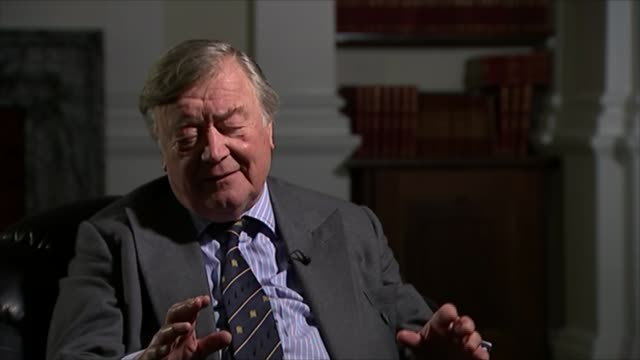 conservatives david cameron profile london ken clarke interview sot clinton was desperately anxious to be like kennedy / blair modelled himself on... - kenneth clarke stock-videos und b-roll-filmmaterial