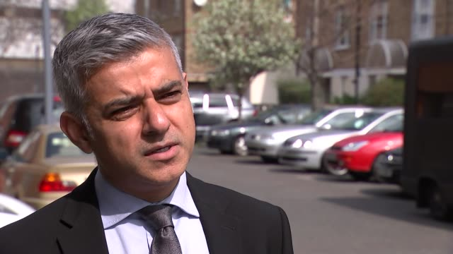 Crime Labour Crime and Justice manifesto launch Cutaways and interview EXT Sadiq Khan interview SOT
