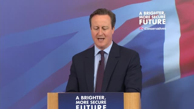 David Cameron speech in Lincoln ENGLAND Lincolnshire Lincoln INT Karl McCartney / David Cameron MP and William Hague MP speech SOT on launch of...