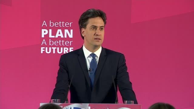 ed miliband launches manifesto for young people ed miliband speech continued sot will ban zero hours contracts guaranteed job and trainign for any... - politics and government stock videos & royalty-free footage