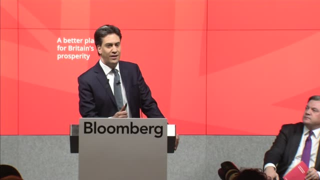 general election 2015: ed miliband presents business manifesto; ed miliband question and answer session with caroline flint , douglas alexander ,... - douglas alexander stock videos & royalty-free footage