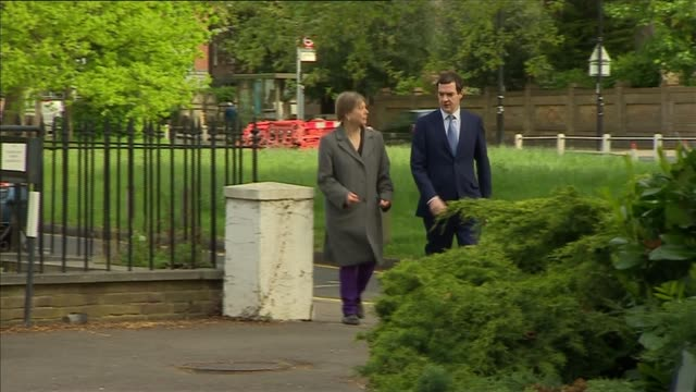 george osborne visits ealing studios england london ealing ext 'ealing studios' building with flag flying / george osborne along greeting man and... - ealing stock videos and b-roll footage