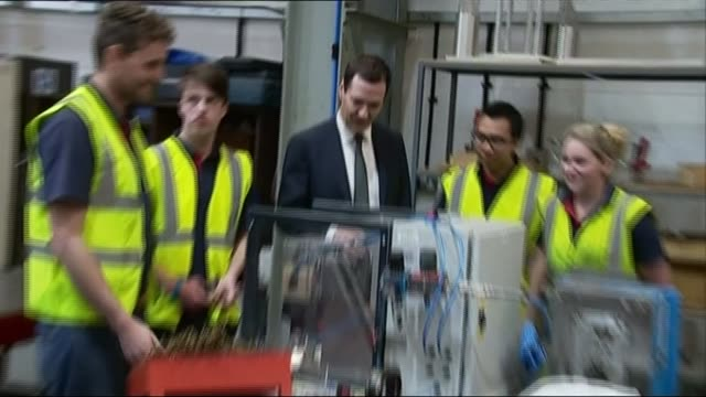 George Osborne visits Henry vacuum cleaner factory in Somerset ENGLAND Somerset Chard Numatic International vacuum cleaner factory INT George Osborne...