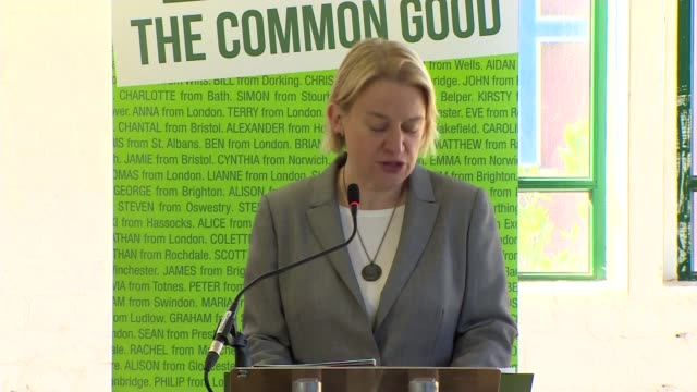 green party election manifesto launched natalie bennett speech sot this is a vision that sees an end to the disastrous policy of austerity that's... - greed stock videos and b-roll footage