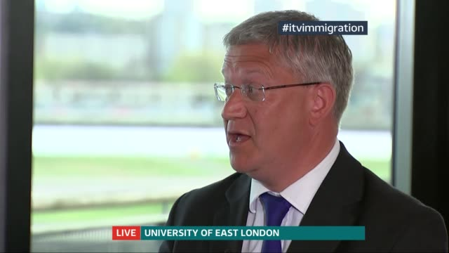 Immigration policy ENGLAND London Univerity of East London INT John Dumbleton Andrew Rosindell Winston McKenzie Maajid Nawaz Gareth Thomas and Robert...