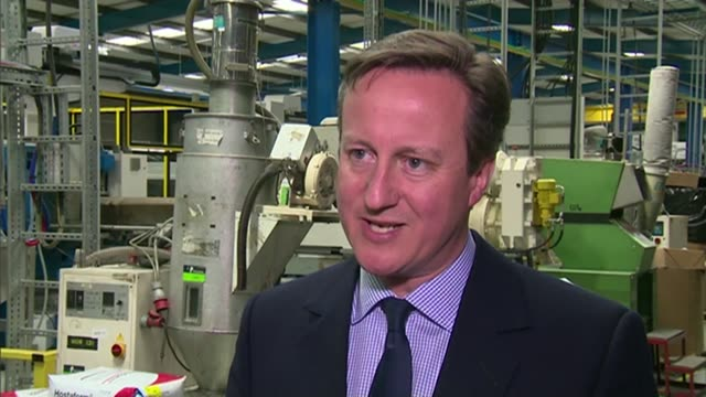 Labour Party manifesto Reactions ENGLAND County Durham Eaglescliffe Icon Plastics INT David Cameron interview SOT Labour are committed to running a...