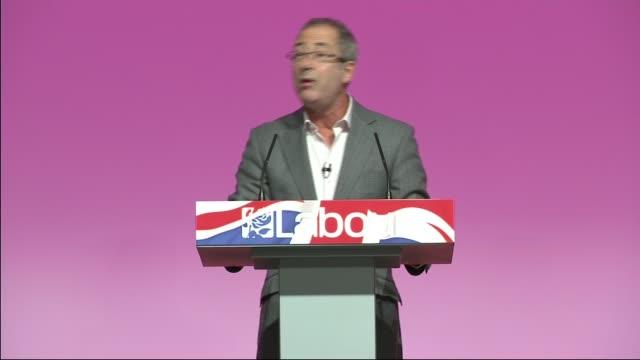general election 2015: labour party rally in warrington; ben elton onto stage ben elton speech sot - ben elton stock videos & royalty-free footage