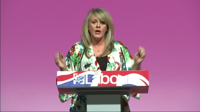 labour party rally in warrington ben elton introduction sot sally lindsay speech sot - ben elton stock videos and b-roll footage